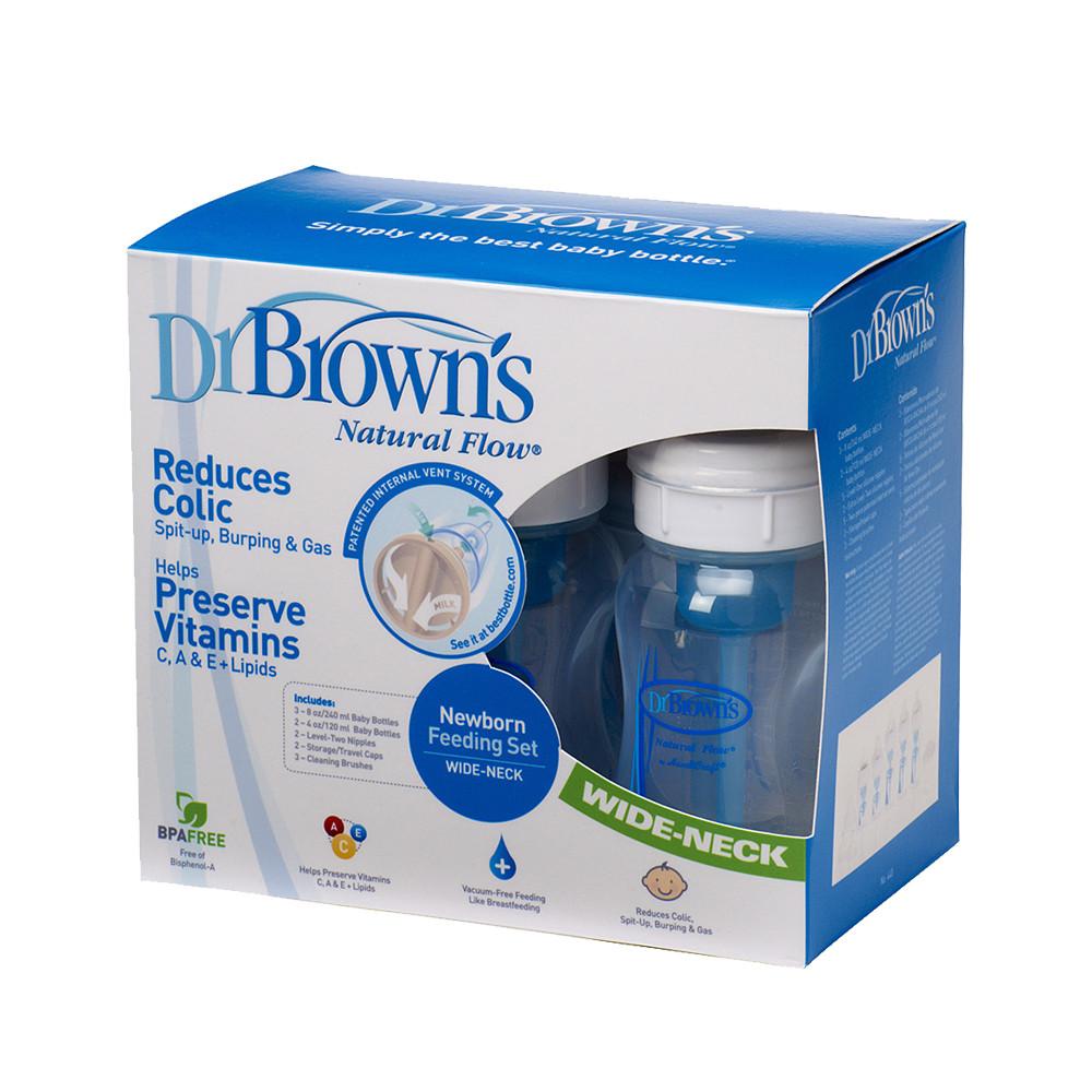 ست کامل شیشه شیر پهن دکتر براونز