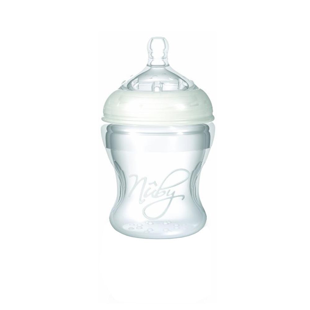 شیشه شیر نابی Nuby سیلیکون نرم 210 میلی لیتر