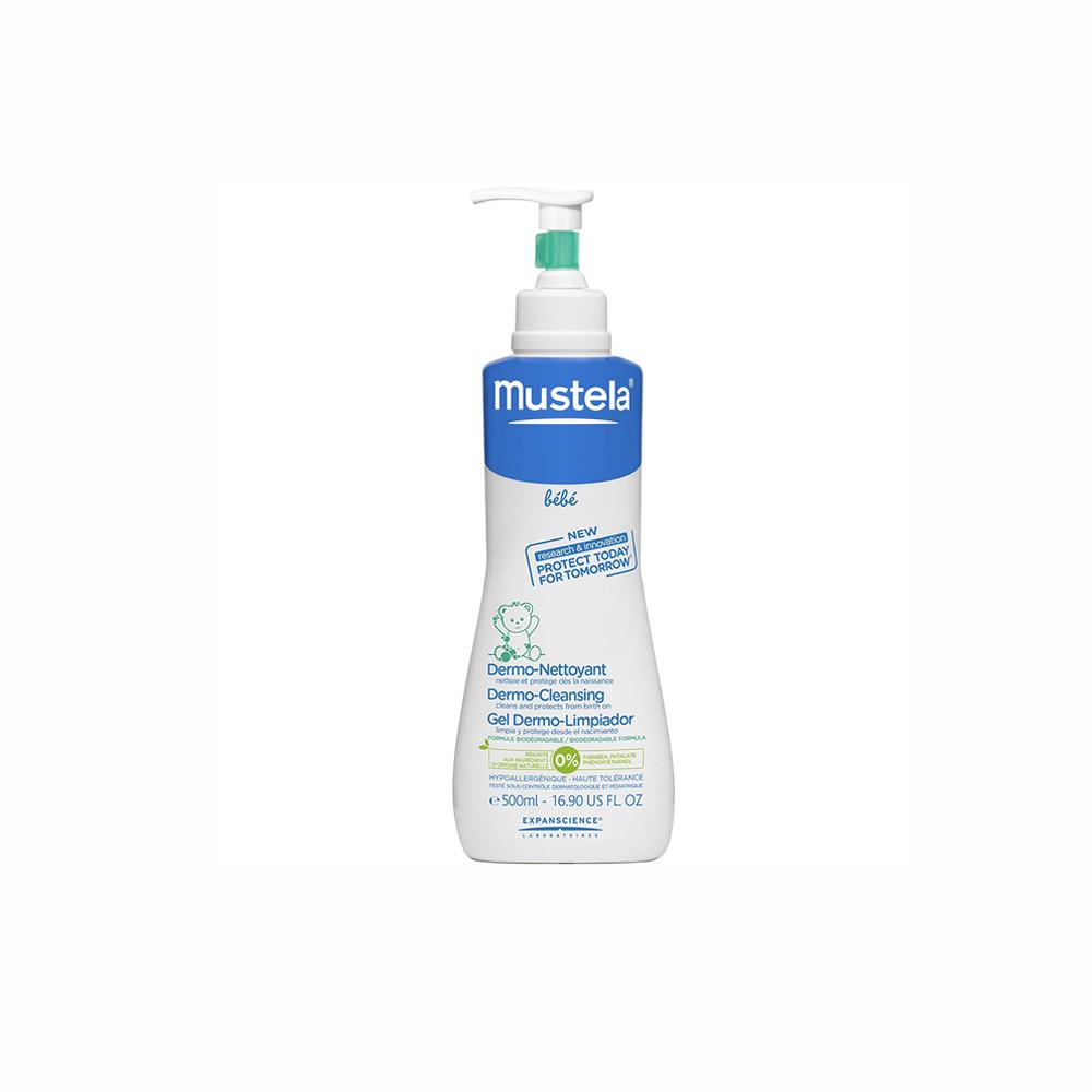 ژل پاک کننده و شستشو دهنده سر و بدن بدون صابون mustela موستلا 500 میلی لیتر