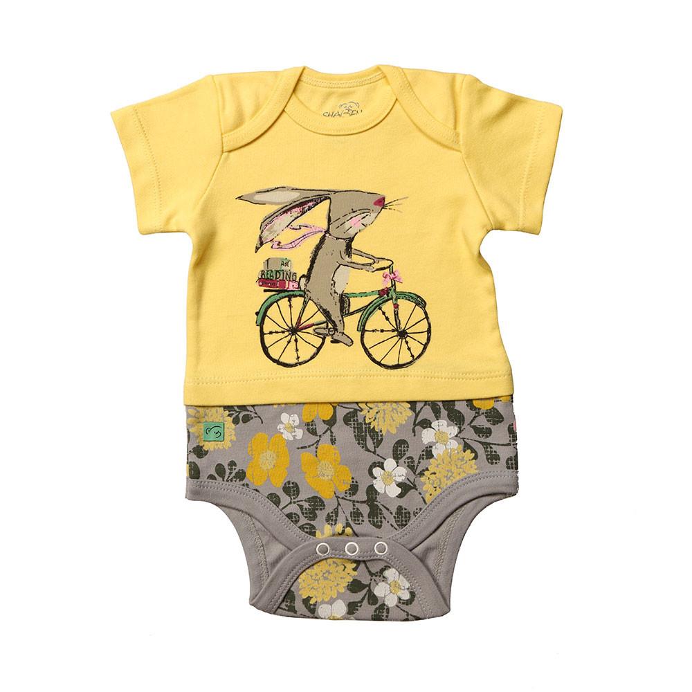 آستین کوتاه زیر دکمه دار دوچرخه شابن