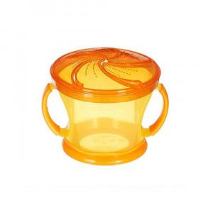 ظرف تنقلات دربدار (اسنک خوری) نارنجی مانچکین munchkin (ظروف غذاخوری )