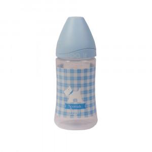 شیشه شیر پیچازی 270 میلی (آبی) suavinex (شیشه شیر و لوازم جانبی)