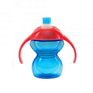 لیوان آبمیوه خوری 207 میلی دسته دار مانچکین (آبی) munchkin (ظروف غذاخوری )