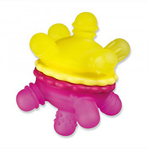 دندانگیر توپی مانچکین munchkin (رنگ زرد و صورتی)
