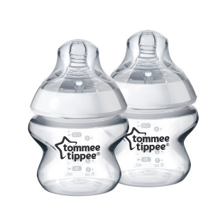 شیشه شیر تامی تیپی tommee tippee مناسب +0 ماه 150 میلی لیتر