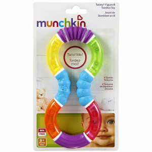 دندانگیر چرخان مانچکین munchkin رنگ بنفش (جغجغه ای)
