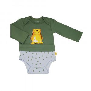 آستین بلند زیردکمه دار خرس پسرانه شابن (لباس زیر )