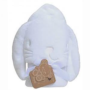 حوله حمام کلاهدار playgro پلی گرو (طرح خرگوش سفید)