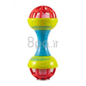 جغجغه مدل دمبل (آبی) (اسباب بازی)