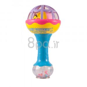 جغجغه مدل دمبل دو طرفه (آبی) (اسباب بازی)