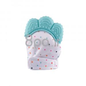 دستکش دندانگیر نوزاد (آبی) (2 عددی) (پستانک و دندانگیر)