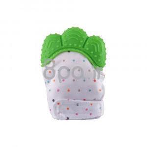 دستکش دندانگیر نوزاد (سبز) (2 عددی) (پستانک و دندانگیر)