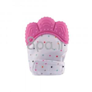 دستکش دندانگیر نوزاد (صورتی) (2 عددی) (پستانک و دندانگیر)