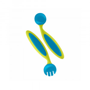 قاشق و چنگال کودک بون boon (رنگ آبی- سبز)