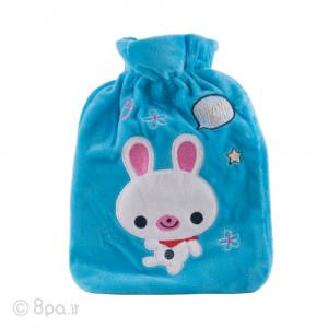 کیسه آب گرم پولیشی مدل خرگوش (آبی)