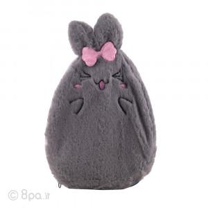 کیسه آب گرم پولیشی مدل خرگوش طوسی (دختر)