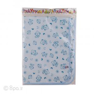 زیرانداز مخمل آبی طرح میمون کیوت بیبی cute baby