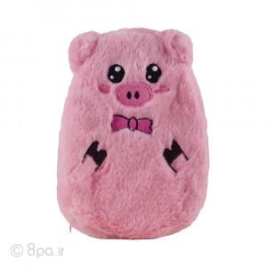 کیسه آب گرم پولیشی مدل خوک (صورتی)