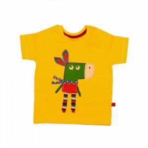 تی شرت آستین کوتاه دانکی زرد شابن (لباس بیرونی)