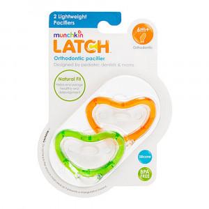 پستانک مانچکین munchkin برای کودکان 6+ ماه (2 عددی) (پستانک و دندانگیر)