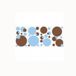 استیکر دیواری اتاق کودک روم میتس roommates طرح Just Dots Blue/Brown