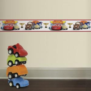 استیکر حاشیه دیواری اتاق کودک روم میتس roommates طرح Disney Cars Piston Cup Champions