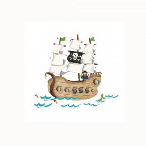 استیکر دیواری اتاق کودک روم میتس roommates طرح pirated ship