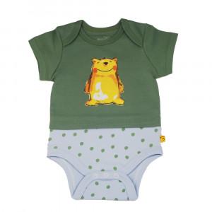 آستین کوتاه زیردکمه دار خرس پسرانه شابن