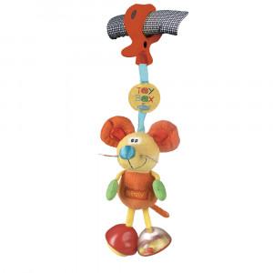 عروسک جغجه ای گيره دار موش پلی گرو playgro