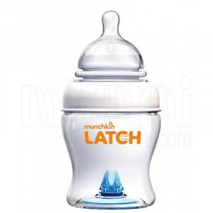 شیشه شیر 120 میلی (نچرال)مانچکین munchkin ضد نفخ(شیشه شیر و لوازم جانبی)