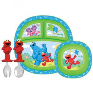ست غذا خوری کودک مانچکین munchkin(مدل قورباقه) (ظروف غذاخوری )