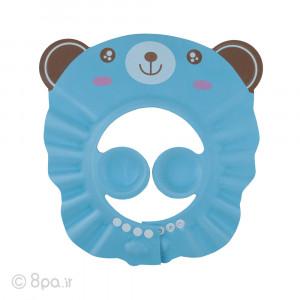 کلاه حمام کودک - خرس آبی