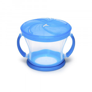 ظرف تنقلات دربدار (اسنک خوری) آبی مانچکین munchkin (ظروف غذاخوری )