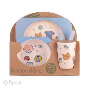 ظرف غذای 5 تکه بامبو (مدل کودک)