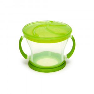 ظرف تنقلات دربدار (اسنک خوری) سبز مانچکین munchkin (لوازم جانبی غذاخوری)