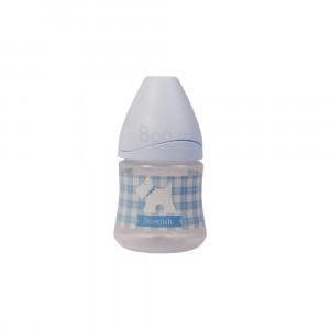 شیشه شیر پیچازی 150 میلی (آبی) suavinex (شیشه شیر و لوازم جانبی)