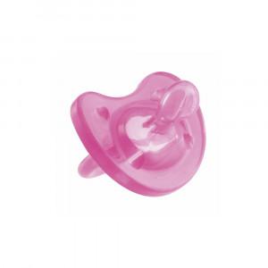 پستانک چیکو chicco فيزيو سافت سيليکونی از بدو تولد 4+ ماهگی (رنگ صورتی)