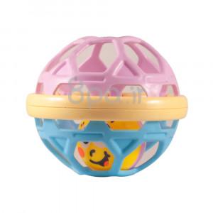 جغجغه مدل توپ (آبی-صورتی) (اسباب بازی)