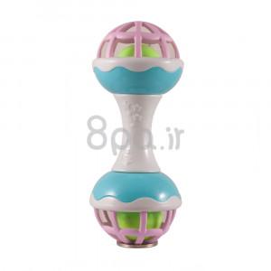 جغجغه مدل دمبل (صورتی) (اسباب بازی)
