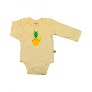 آستین بلند زیر دکمه دار ملودی لیمویی شابن (لباس زیر )