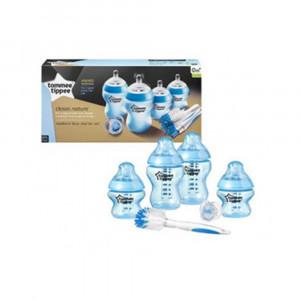 ست آغازین تامی تیپی tommee tippee مناسب +0 ماه (رنگ آبی) (شیشه شیر و لوازم جانبی)