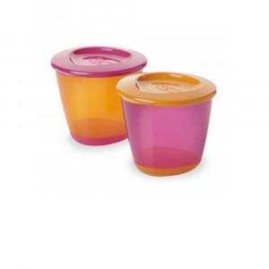 ظرف نگهداری غذا تامی تیپی tommee tippee دربدار (2 عددی) (لوازم جانبی غذاخوری)