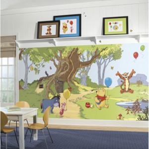 کاغذ دیواری اتاق کودک روم میتس roommates طرح Pooh & Friends