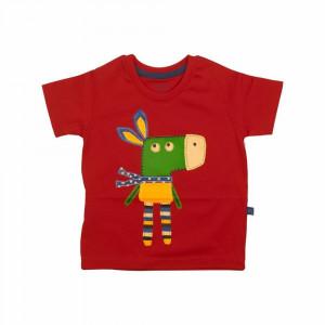 تی شرت آستین کوتاه دانکی قرمز شابن (لباس بیرونی)