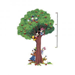 کاغذ دیواری اتاق کودک روم میتس roommates طرح Mickey & Friends Growth Chart