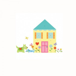 استیکر دیواری اتاق کودک روم میتس roommates طرح Build A House