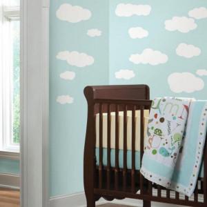 استیکر دیواری اتاق کودک روم میتس roommates طرح White Clouds