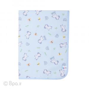 زیرانداز مخمل آبی طرح گورخر کیوت بیبی cute baby