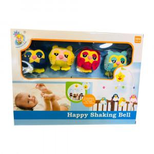 آویز تخت کودک طرح جغد هپی شیکینگ بل Happy Shaking Bell