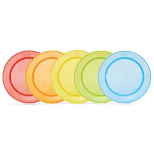 بشقاب رنگی (5 عددی)مانچکین munchkin (ظروف غذاخوری )